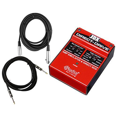 Radial JDX Direct Drive Guitar Amp Simulator DI w/ 2 Cables