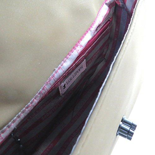Bolso de la bolsa 'Lollipops'de color caqui - 25x15.5x8.5 cm.