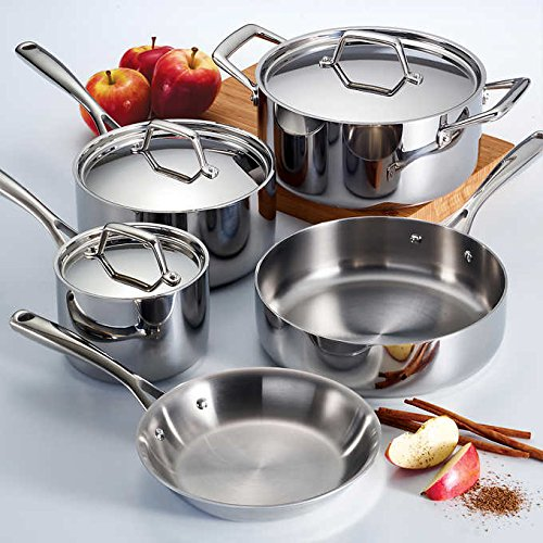 Tramontina 8pc Stainless Steel Tri-Ply Clad Fry Pan Set (Tri Ply Clad)