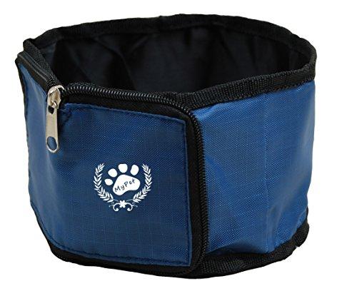 Polyester Hundenapf für Reisen Futterbeutel für Hunde Haustier Katze Reisenapf Futternapf Napf Trinknapf in blau von der Marke PRECORN
