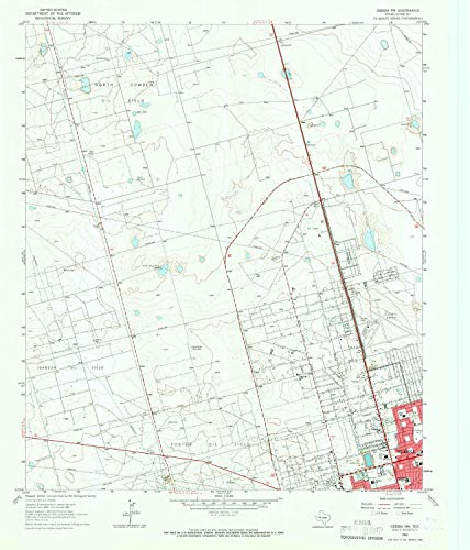 YellowMaps Odessa NW TX topo map, 1:24000 Scale, 7.5 X 7.5 Minute, Historical, 1964, Updated 1966, 26.9 x 23 in - Paper