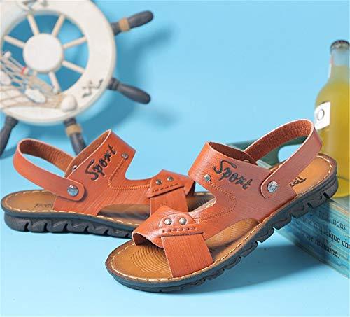 De EU Libre con Marrón Zapatos Amarillo Antideslizantes Sandalias Los De Verano Aire Deportes tamaño De Cuero Sandalias 40 Al Wangcui Color S8qOHnwtFx
