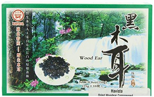 Havista Dried Mushrooms, Wood Ear Compressed,