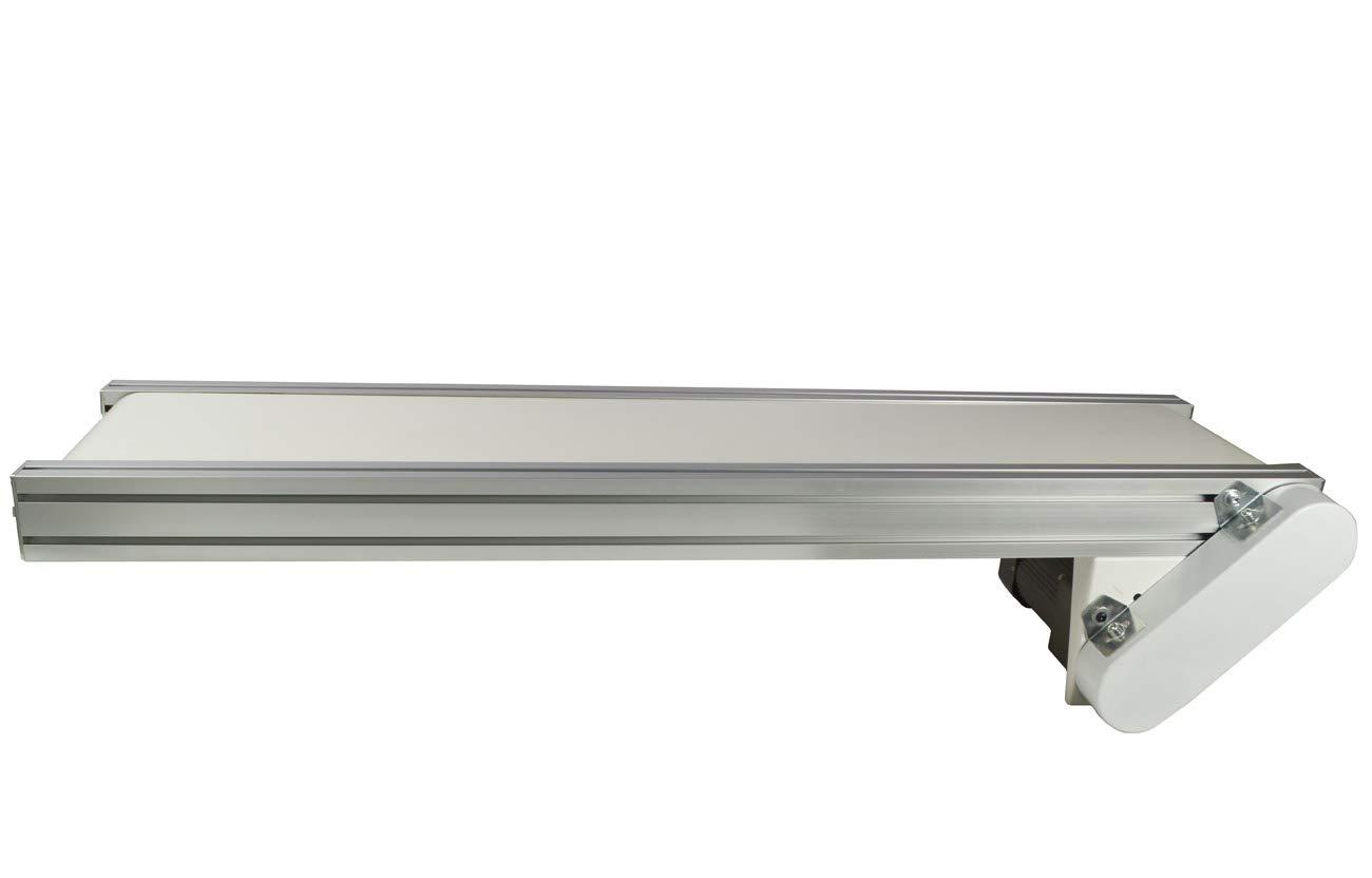 TECHTONGDA PVC Flat Conveyor Belt Systems for Industrial Transport Conveyor Length 47.2inch Belt Width 7.8inch
