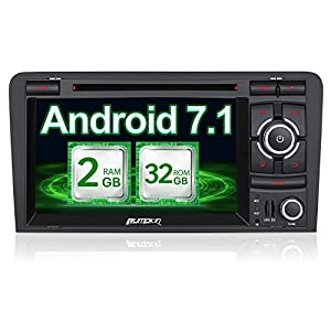 bose car stereo. pumpkin android 7.1 2gb 32gb car stereo cd dvd player for audi a3 radio bluetooth sat nav 1024*600 double din head unit support bose system fastboot
