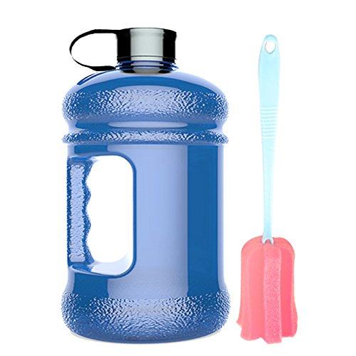 High-Capacity New Wave Jug Resin Sports Water Bottles(2.2 Liter)(deep blue)