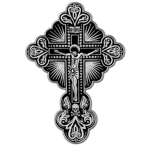 Life Crucifix (Huge Cross Jesus Christ Crucifix Christian Biker Jacket Tattoo Embroidered Patch)