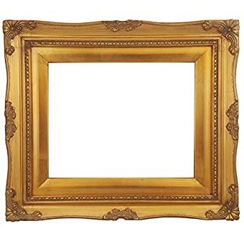 jess frames 213gg gold baroque style 8x10 wood frame with gold liner 2 12 inch wide