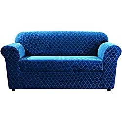 Sure Fit Stretch Grand Marrakesh 2-Piece - Loveseat Slipcover - Nile Blue (SF45877)