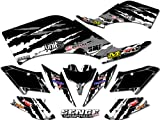 Senge Graphics All Years Kawasaki KFX 700, Shredder Black Graphics Kit
