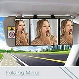 Love Environment New 1PC Car Interior Sun Visor Tri-fold Folding Mirror for Seat Leon Ibiza Skoda Rapid Fabia Octavia Yeti Audi A3 A4 B8 B6,
