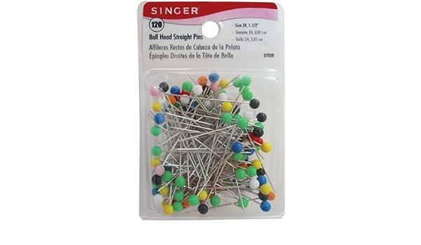 Singer Notions 07030 Ball Head Straight Pins-Size 24 120//Pkg