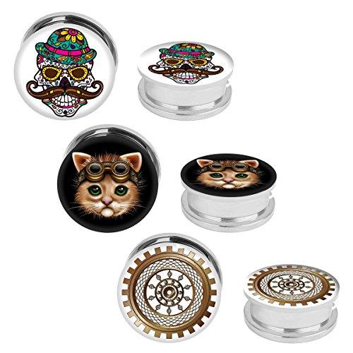 00 gauges plugs cats - 5