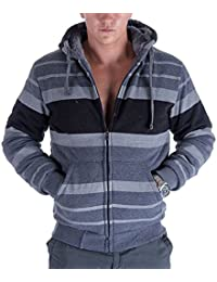 "<span class=""a-offscreen"">[Sponsored]</span>Fashion Stripe Sherpa Fleece Lined Hoodies For Men Zip Up Big and Tall Zipper Cool Fishing Sweatshirt On Sale"