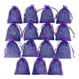 D'vine Dev 15 Purple French Dried Lavender Sachets Craft Bag - All Natural - Lavender Sachets Wedding Toss, Home Fragrance Sachets Drawers Dressers - by Lavande Sur Terre