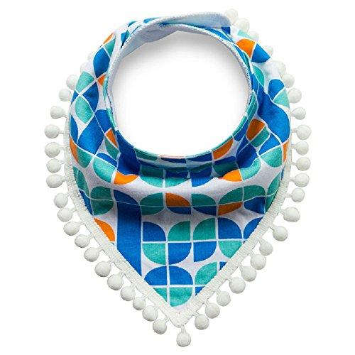 iZiv Baberos del Bebé - Paquete de 4 Diseños Pañuelo con Snaps Ajustables, TPU Impermeable Guarnición para niño 0-2 años (Color-4) Color-1