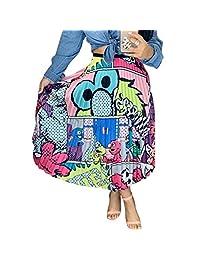 ChengQi Falda Plisada para Las Mujeres de Moda de Dibujos Animados de impresión Falda de una línea Faldas de la Vendimia