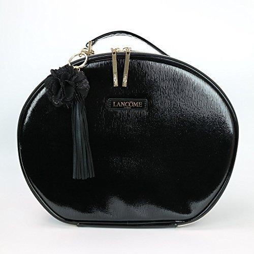 Lancome Le Parisian Cosmetic Faux Leather Train Case, Black