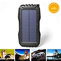 Kiizon 25000mAh Portale Solar Power Bank...