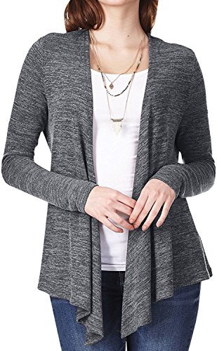 Inorin Womens Cardigan Sweaters Lightweight Open Front Long Sleeve Draped Vintage Tops with Belt