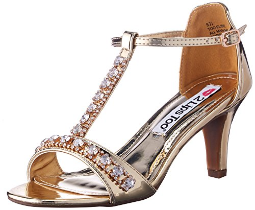 2 Lips Too Mujeres Elise Dress Pump Gold