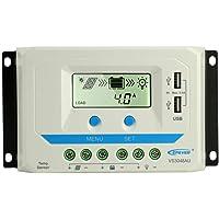 EPEVER 30A PWM controlador de carga solar 12/24/36/48V Dual USB Max 96V de entrada de carga solar con sensor de temperatura resistente a la intemperie visualización LCD