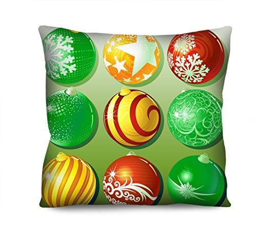 Almofada Natal Bolas de Natal Verde 42x42