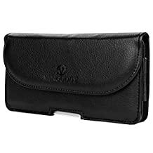 VG Black Premium Durable Faux Leather Belt Clip Holster Case for Samsung Galaxy Note 4 / Note Edge / Note 3