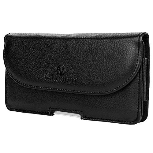 VanGoddy Voyage Leather Wallet & Holster Carrying Case for Motorola Moto X Pure Edition / Moto X Style / Google Nexus 6 with VanGoddy Headphones