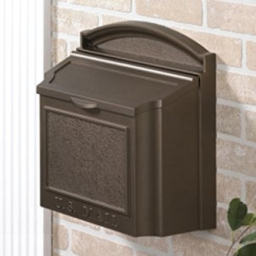 Whitehall Products Locking Wall Mounted Large Mailbox (French Bronze) by Whitehall