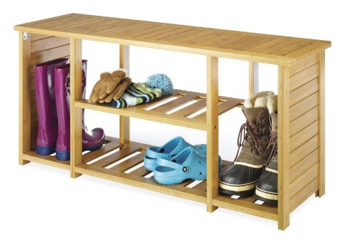 Whitmor Bamboo Storage Bench