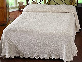 product image for Maine Heritage Weavers Colonial Rose Bedspread, Twin, French Blue