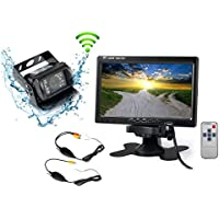 wireless backup Camera Waterproof and Car Monitor / 7 TFT LCD color monitor + rear view Camera kit with IR For Truck/Semi-Trailer/Box Truck/RV