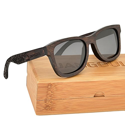 776c63d452 Polarized Pear Wood Wooden Arms Mens Womens Vintage Sunglasses Eyewear By  JANGOUL