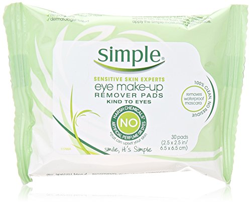 Simple Eye Makeup Remover Pads, 30 ct