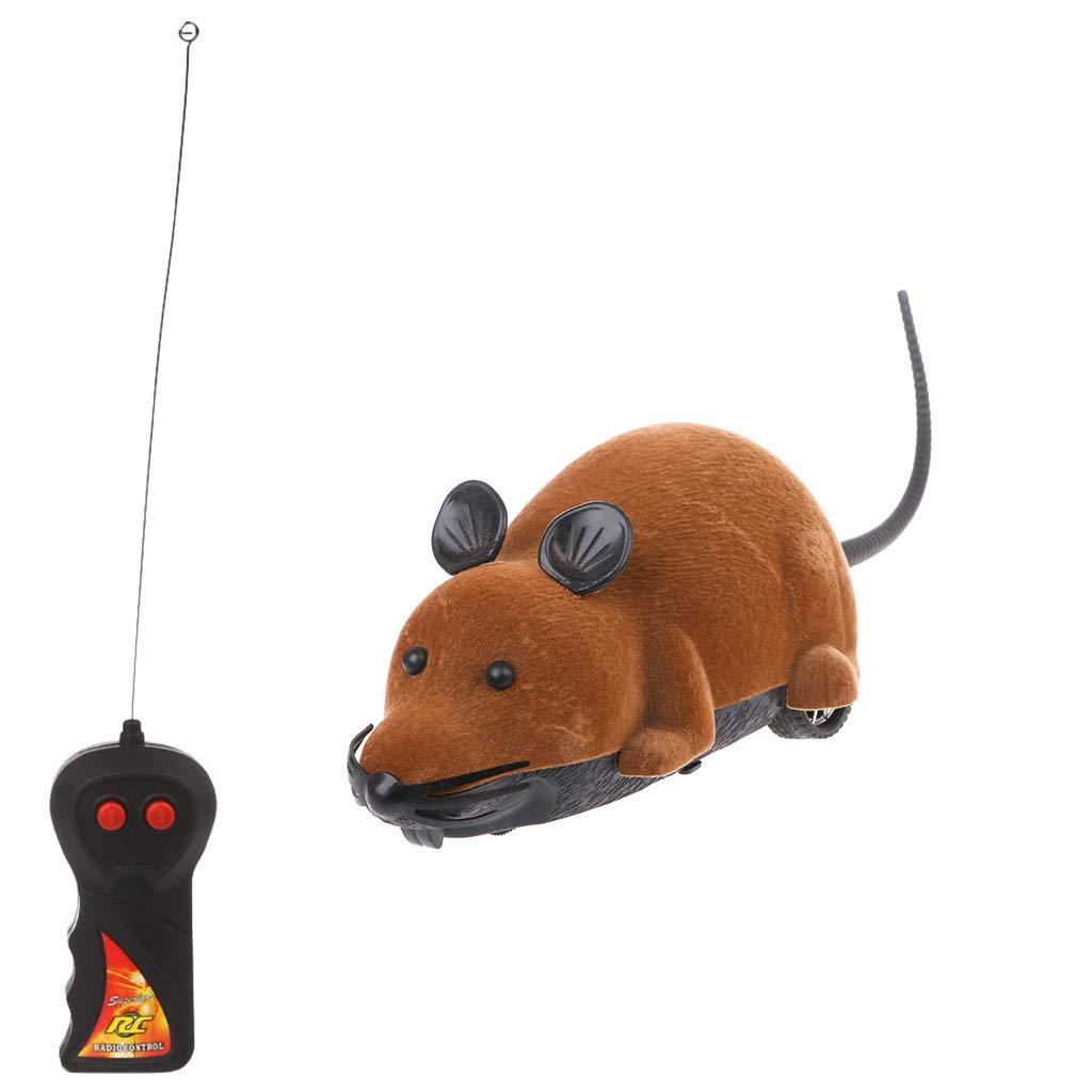 Runrain Électronique de jeu électrique pour chat avec télécommande de souris, marron