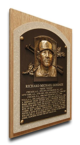 MLB New York Yankees Rich Gossage Baseball Hall of Fame Plaque on Canvas, Medium, - New Plaque York Yankees