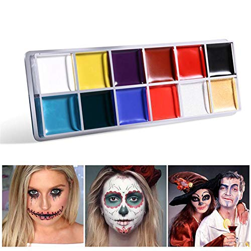 Dragon Honor Professional Waterproof Face Body Paint Oil 12 Colors Painting Art Halloween Party Fancy Make Up
