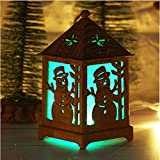 Christmas Night Lights Christmas Tree Decoration Cabin Lights Creative Home Decorations Festival Lights Garden Decoration Lights Creative and Beautiful Lighting (B)