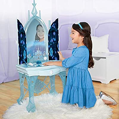 Disney Frozen 2 Elsa's Enchanted Ice Vanity, Includes Lights, Iconic Story Moments & Plays Vuelie and Into The Unknown for Ages 3+: Toys & Games