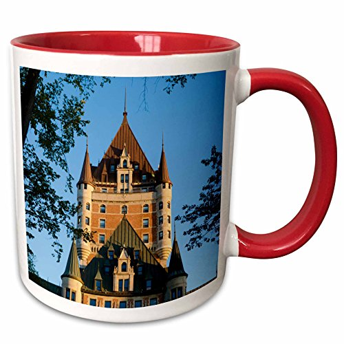 (3dRose Danita Delimont - Buildings - Canada, Quebec, Quebec City. Chateau Frontenac Hotel at twilight. - 15oz Two-Tone Red Mug (mug_207378_10))