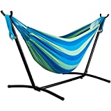 driftsun double hammock with steel stand   space saving two person lawn and patio portable hammock amazon    2 person   hammocks   hammocks stands  u0026 accessories      rh   amazon