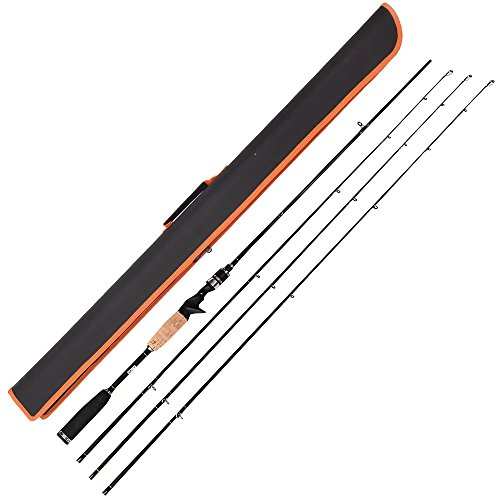 Entsport Rattlesnake 2-Piece 7-Feet Casting Rod with 3 Top Pieces Graphite Baitcasting Fishing Rod...