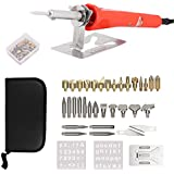 38PCS Wood Burning Kit Tool with Pyrography Pen Include Various Wood Embossing/Carving/Soldering Tips for Creative Wood Burner