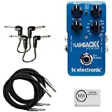 TC Electronic Flashback Delay and Looper + (2) 20ft Guitar Cables + (2) Patch Cables Bundle