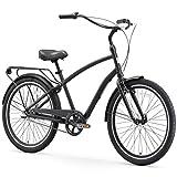 sixthreezero EVRYjourney Men's 3-Speed Hybrid Cruiser Bicycle, Matte Black w/ Black Seat/Grips Review