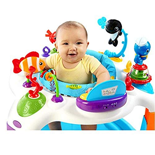Qiaoden Rhythm The Reef Activity Saucer Exersaucer Bounce Learning Center Adjustable Height Kids