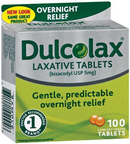 Dulcolax Laxative, 5 mg, Comfort Coated Tablets, 100 tablets