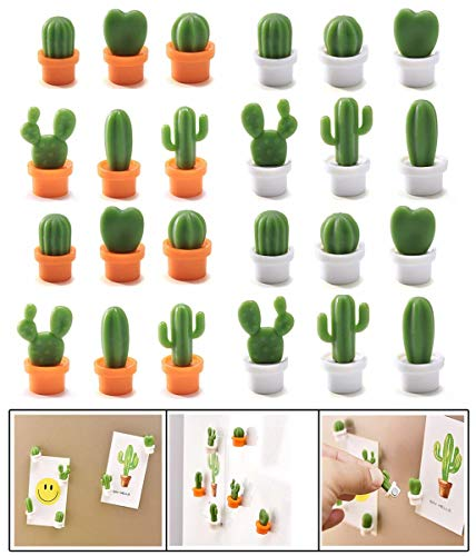 TabEnter 24-Pcs Cactus Decorative Refrigerator Magnets, Perfect Fridge Magnets for House Office Personal Use