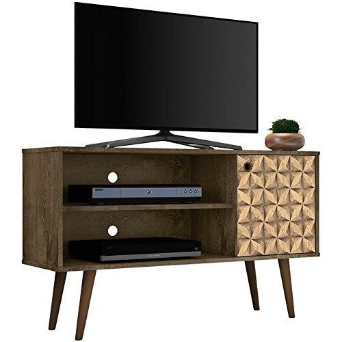 Manhattan Comfort 212BMC97 Liberty TV Stands, Rustic Brown/3D